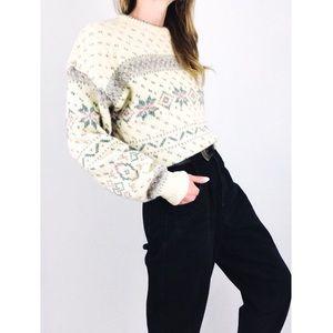 Vintage 💫 Fair Isle Crewneck Sweater